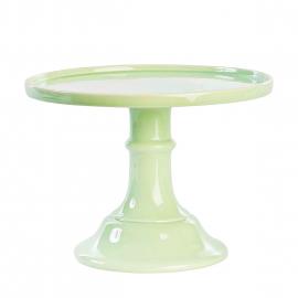Cakestand céramique vert menthe