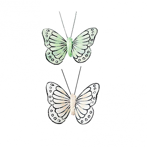 Papillons duo pastel