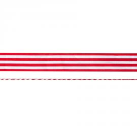 Duo ruban et cordelette rouge