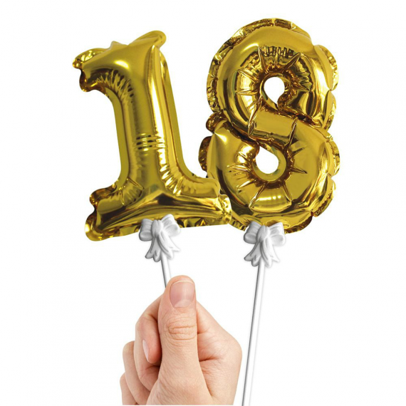 Mini ballons mylar chiffres or