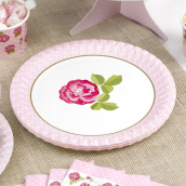 Assiettes dots & roses