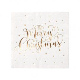 Serviettes papier Merry christmas or