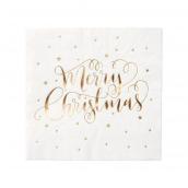 Serviettes papier Merry christmas or