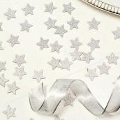 Confettis étoiles paillettes argent