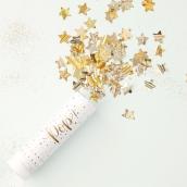 Canon confettis étoiles brillantes or