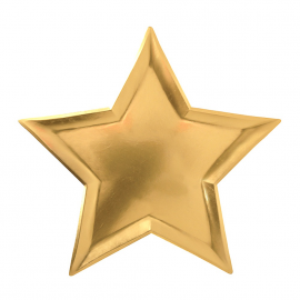 Assiettes étoiles or 3D