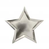 Assiettes étoiles argent 3D