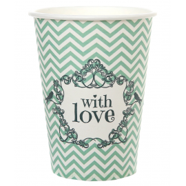 Gobelets chevrons chic love menthe