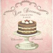 Serviettes papier Les desserts