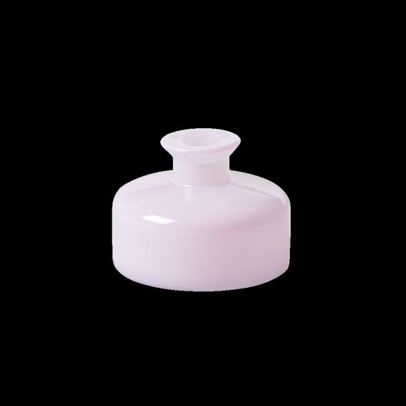 Vase verre opaline rose dragée