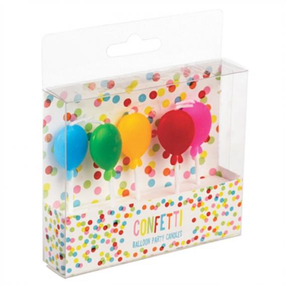 Bougies anniversaire ballons