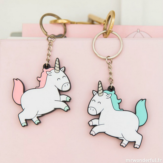 Lot porte-clés licornes magiques