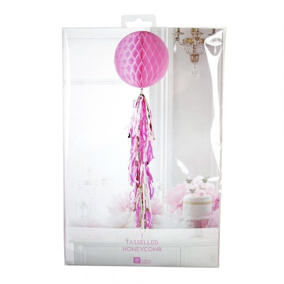 Boule papier rose et tassel