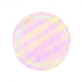 Assiettes iridescentes