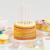 Bougies anniversaire géantes pastel