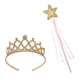 Couronne et baguette princesse