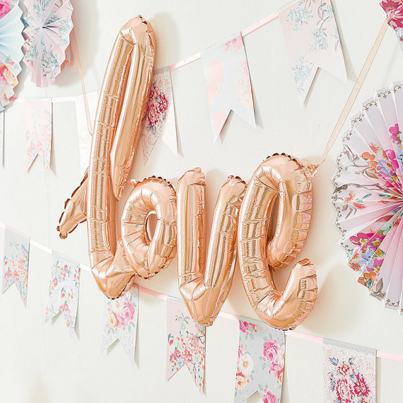 Ballon mylar Love or rose