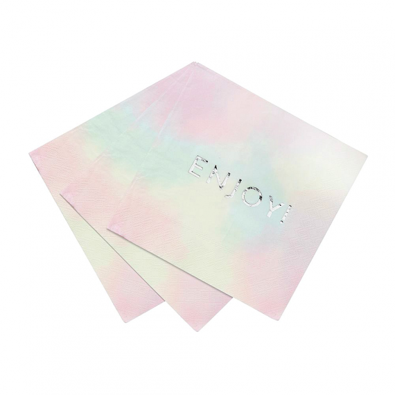 Serviettes papier pastel Enjoy
