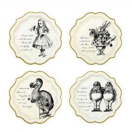 Assiettes gravures So Alice