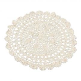 Napperon crochet ivoire