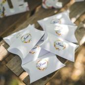 """Stickers fleurs bucoliques """"Merci"""""""