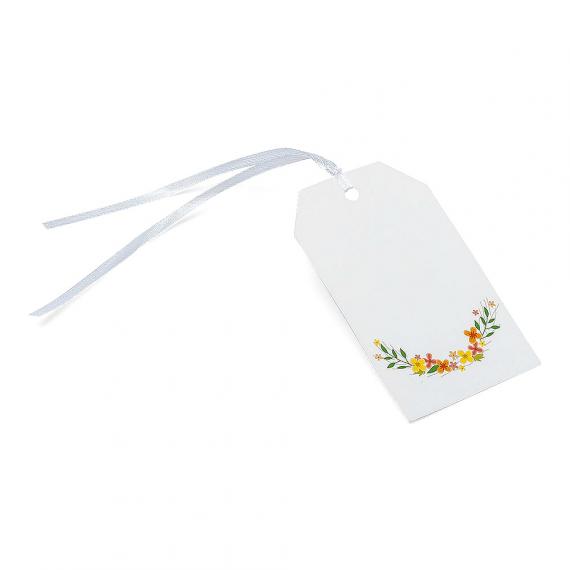 Etiquettes fleurs bucoliques