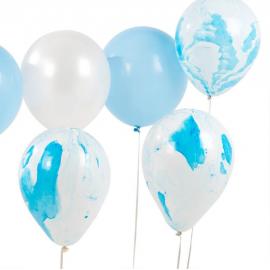 Ballons bleu marbré