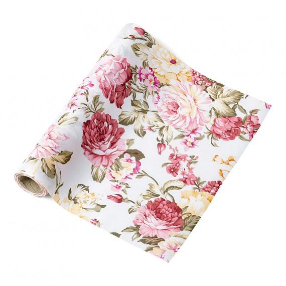 Chemin de table fleurs anglaises