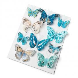 Papillons assortiment bleu