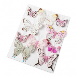 Papillons assortiment rose