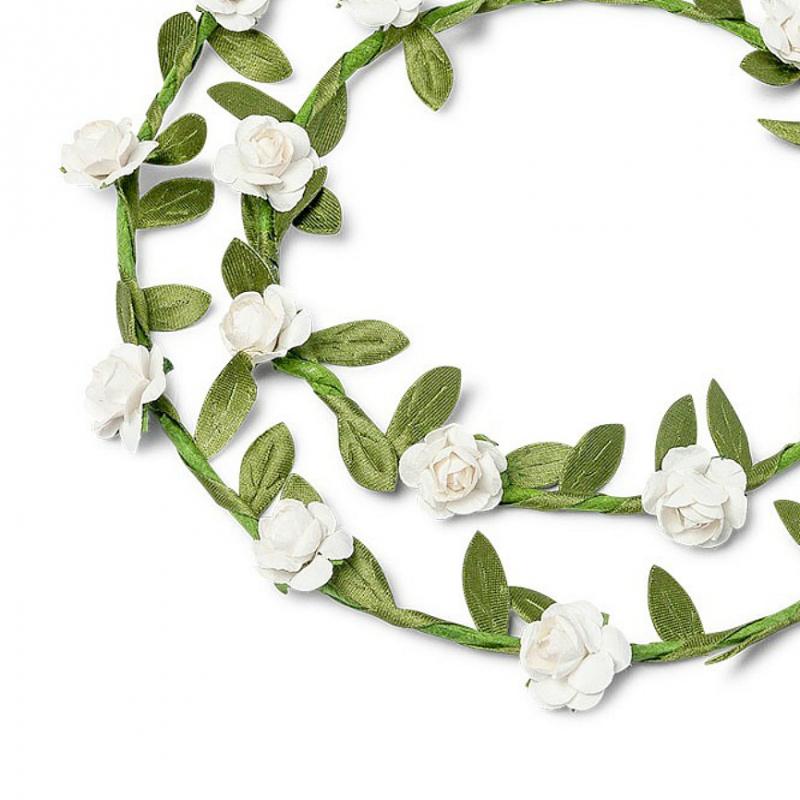 accessoires mariage couronnes de fleurs blanches duo. Black Bedroom Furniture Sets. Home Design Ideas