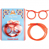 Paille funny lunettes