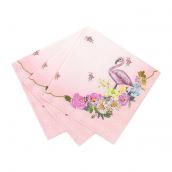Serviettes papier cocktail flamants romantiques