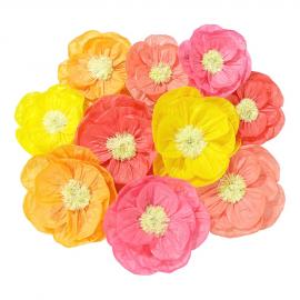 Fleurs coquelicots papier