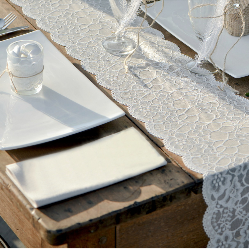 Chemin de table dentelle r tro - Chemin de table chic ...
