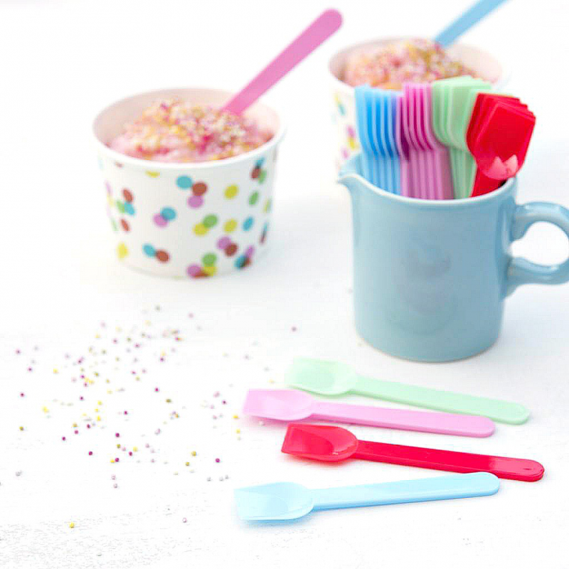 D coration candy bar petites cuill res glace color es for Decoration glace