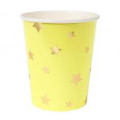 Gobelets étoiles or mix colors