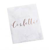 Sachet confettis papier rectangles blancs