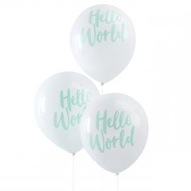 Ballons baby shower Hello world