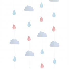 Backdrop guirlandes nuages et gouttes