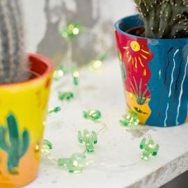 Guirlande de table led cactus