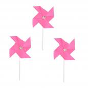Mini moulins à vent rose