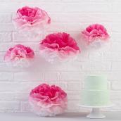Pompons mix dégradés rose