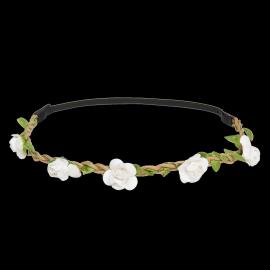 Couronne tresse fleurettes blanches