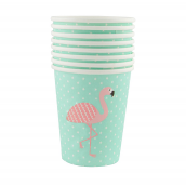 Gobelets star flamant rose