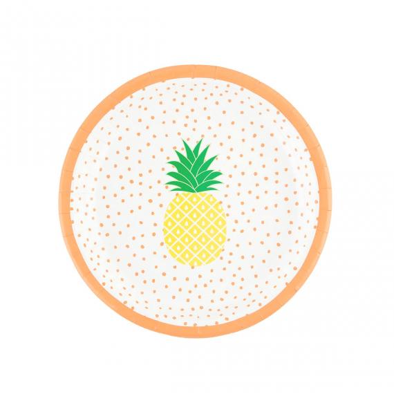 Assiettes ananas tropique
