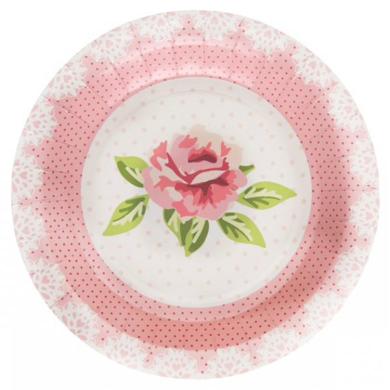 Assiettes fancy roses