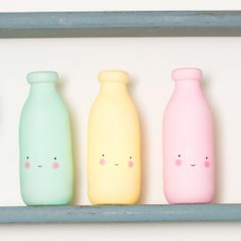 Veilleuse bouteille lait jaune