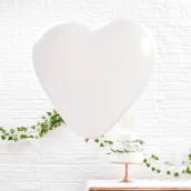 Grands ballons coeur blanc