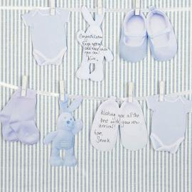 Cartes livre d'or bébé bleu